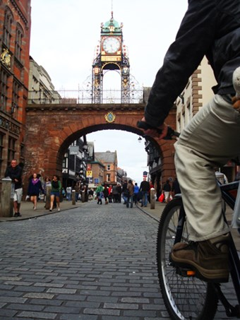 Chester city centre cycle way