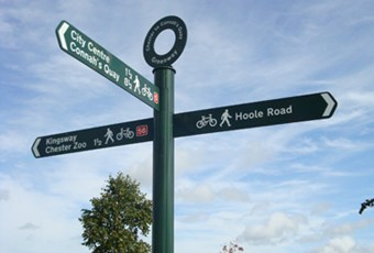 Chester cycle paths